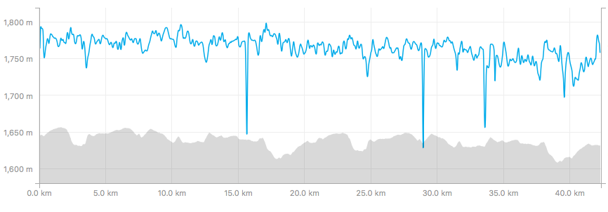 21 and 42km